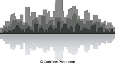 Downtown cityscape for business concept design. Vector...
