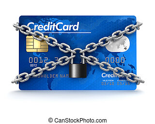 Credit Card and lock - Credit Card and lock. Image with...