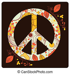 colored peace symbol