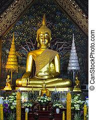 Buddha image in Wat Suan Dok, Chiang Mai, Thailand