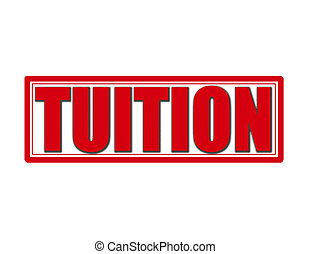 Tuition - Stamp with word tuition inside, vector...