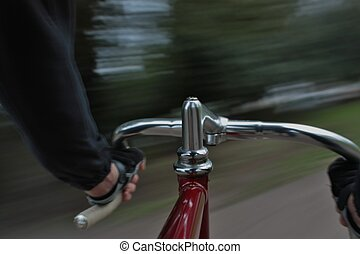 Handlebar - Long exposure taken from a camera fixed on a...