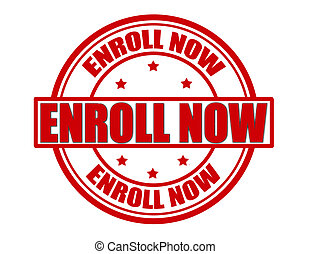 Enroll now - Stamp with text enroll now inside, vector...