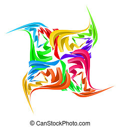 Abstract paper figure - Colorful abstract paper figure made...