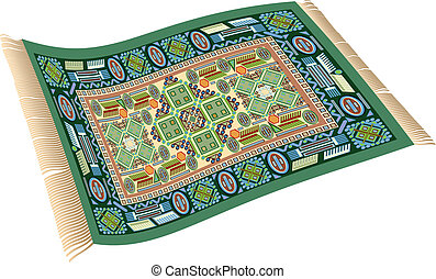 Clip Art Carpet Clipart magic carpet illustrations and clip art 634 royalty green illustration of a flying