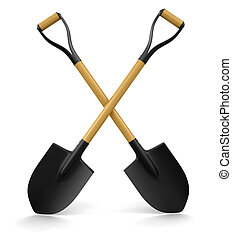 Shovel (clipping path included) - Shovel. Image with...