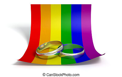 Save The Date Rings And Gay Paper - A marriage or engagement...
