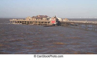 Old Pier and Birnbeck Island Weston-super-mare England