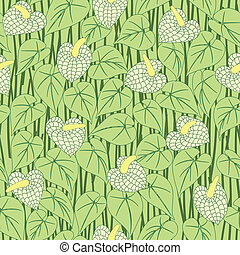 seamless anturium flower pattern background