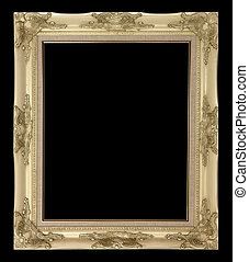 Picture frame - picture frame isolated on black background