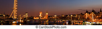 City of Westminster at Twilight ,London - London panoramic...