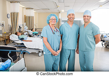 Post Operative Unit in Hospital - Medical team in post op...
