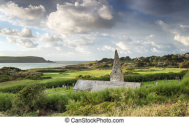 Daymer Bay in Cornwall - Daymer Bay and St Enodoc church...