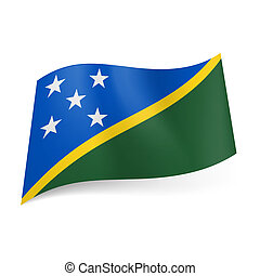 State flag of Solomon Islands. - National flag of Solomon...