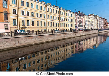 Saint Petersburg - Beautiful view of canal in Saint...