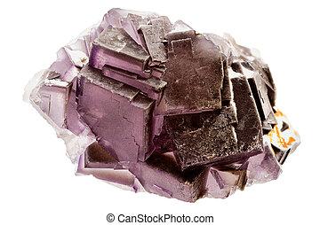 púrpura, cristal, fluorita