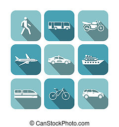 Transportation icons set vector illustration