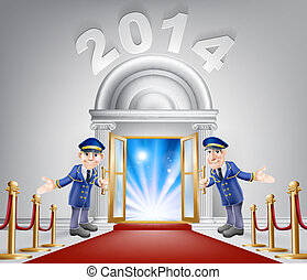 New Year Opportunity Door 2014 - New Year Door 2014 concept...