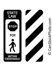 pedestrian crossing traffic sign