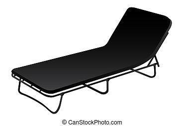 Deckchair vector illustration