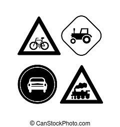 transportation traffic signs vector