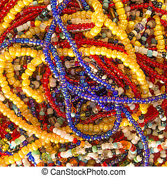 African pearl necklaces