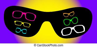 eye glasses vector illustration