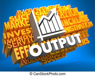 Output Wordcloud Concept - Output with Growth Chart - White...