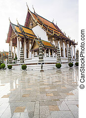 wat Suthat Thepphawararam in Bangkok of Thailand