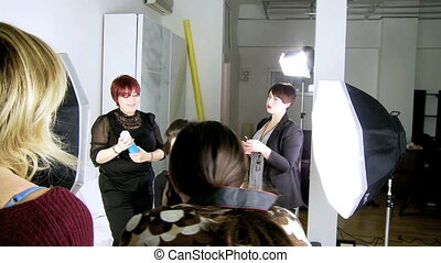 Photographer shooting model makeup - Backstage of fashion...