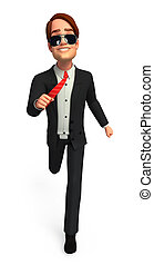 Young Business man - 3d rendered illustration of Young...