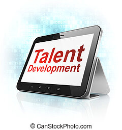 Education concept: Talent Development on tablet pc computer...