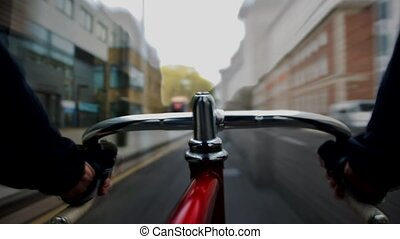 Cycling - Time lapse movie composed of a sequence of...