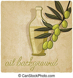 olive branch background - vector illustration