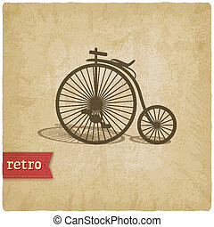 Vintage background with bicycle - vector illustration