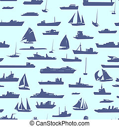 Background with many ships.