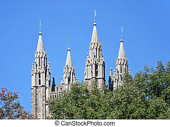 Princeton Chapel - The Chapel spires at Princeton University...