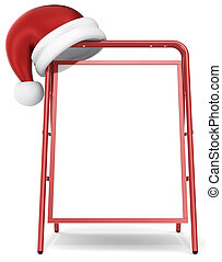 Christmas Sandwich Board - Front view of a Red Sandwich...
