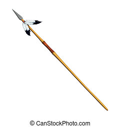 Indian Spear - 3D digital render of an Indian spear with...