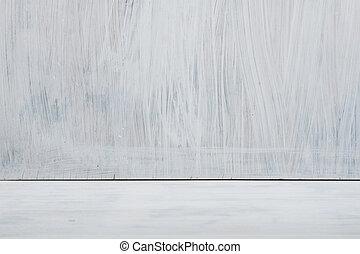 elegancia, blanco, habitación, vacío, andrajoso