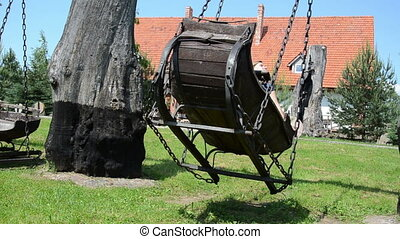 woman old swing