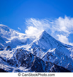 Mont Blanc - Mont Blanc is the highest mountain in the Alps...