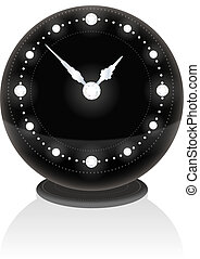 Diamond Clock - Noble black clock with diamonds on the face