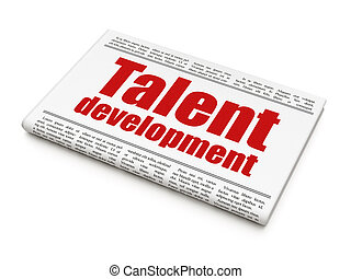 Education concept: newspaper headline Talent Development on...