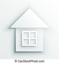 White house icon isolated on white