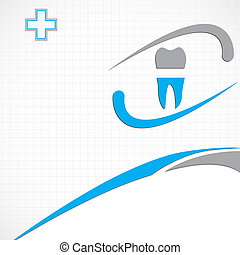 Abstract vector dental illustration
