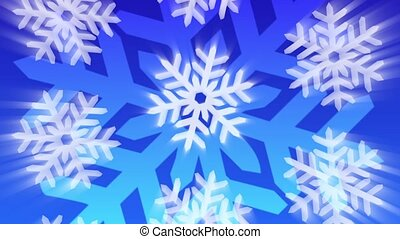Think Snow Loop - Decorative ornamental snowflakes fall and...