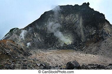 Sibayak volcano at island  Sumatra