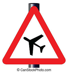 Low Flying Aircraft Traffic Sign - The traditional 'LOW...