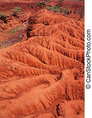 Landscape with Soil Erosion, Kenya - Landscape with soil...